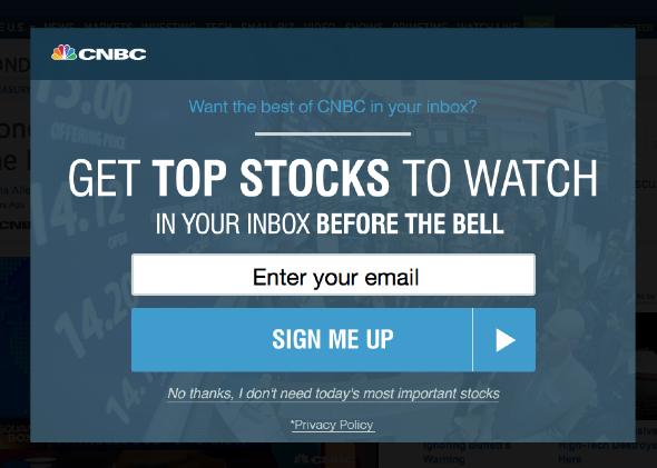 Screenshot from CNBC